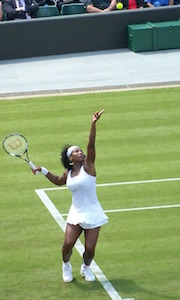 Serena Williams and tennis shoulder